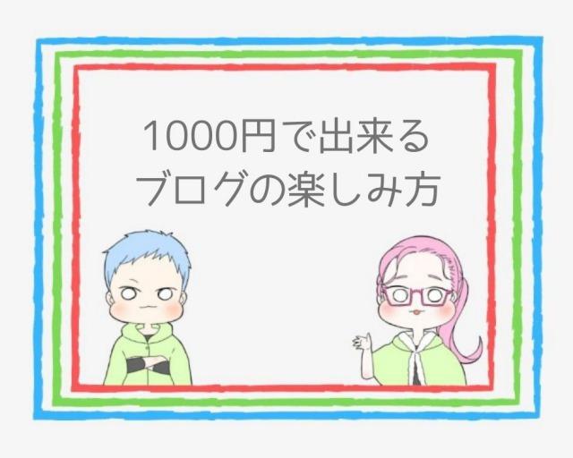 たった1000円でブログが楽しくなる
